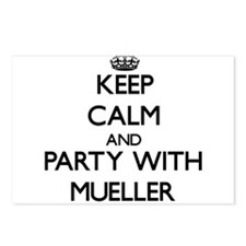 Keep calm and Party with Mueller Postcards (Packag