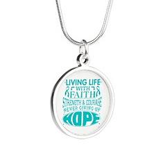 PKD Faith Silver Round Necklace
