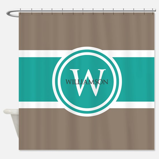 Custom Monogram Shower Curtain