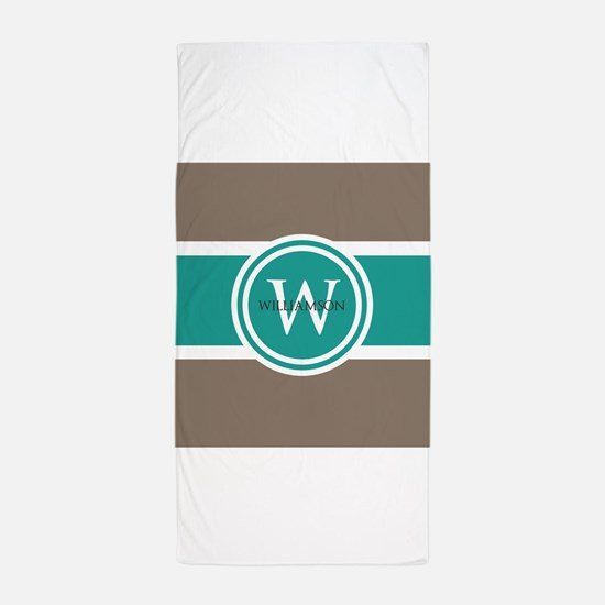 Custom Monogram Beach Towel
