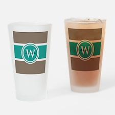 Custom Monogram Drinking Glass