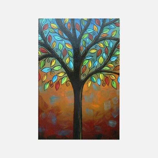 Tree of Many Colors Rectangle Magnet