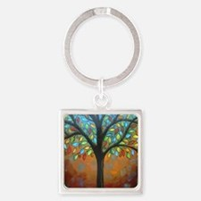 Tree of Many Colors Square Keychain