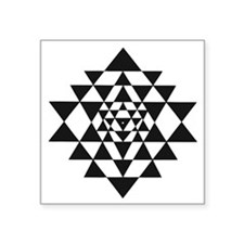 "Sri Yantra Square Sticker 3"" x 3"""
