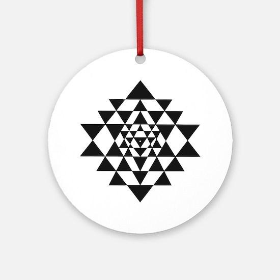 Sri Yantra Round Ornament