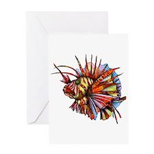 Orange Fish Greeting Cards