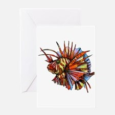 Orange Fish Greeting Cards