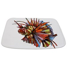 Orange Fish Bathmat