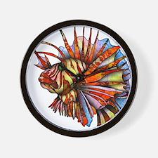 Orange Fish Wall Clock