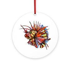 Orange Fish Ornament (Round)