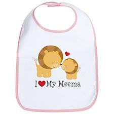 I Love Meema Bib