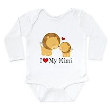I Love Mimi Long Sleeve Infant Bodysuit