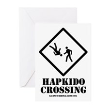 """""""Hapkido Crossing"""" Greeting Cards (Pk of 10)"""