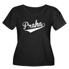 Praha, Retro, Plus Size T-Shirt