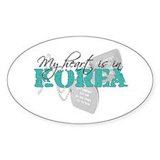 My heart is in Korea Oval Decal