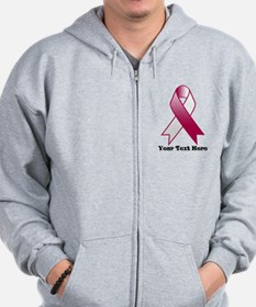 Personalize Throat Cancer Zip Hoody
