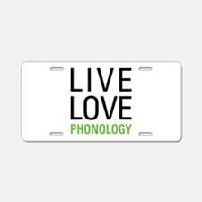 Phonology Aluminum License Plate