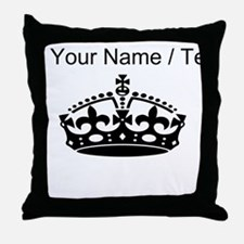 Custom Crown Throw Pillow