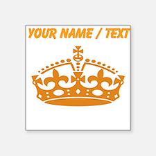 Custom Orange Crown Sticker