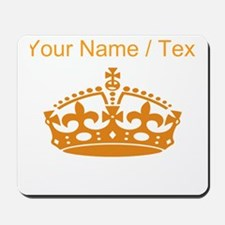 Custom Orange Crown Mousepad