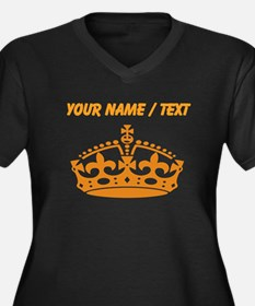 Custom Orange Crown Plus Size T-Shirt