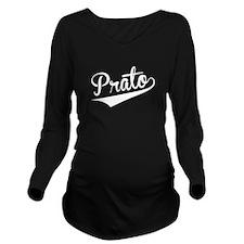 Prato, Retro, Long Sleeve Maternity T-Shirt