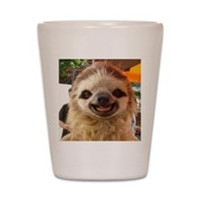 Smiling Sloth Shot Glass