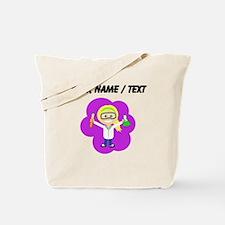 Custom Scientist Girl Ponytail Tote Bag