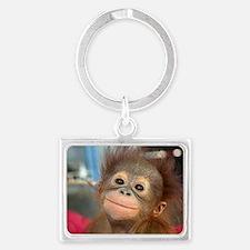 Cute Monkey Landscape Keychain