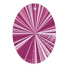 Pink Rays  Oval Ornament