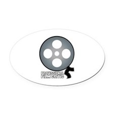 Professional Film Critic Oval Car Magnet