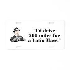Cute Miles Aluminum License Plate