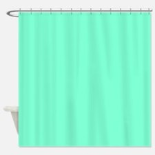 Solid Aquamarine Shower Curtain