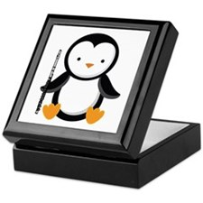 Flute Music Penguin Keepsake Box