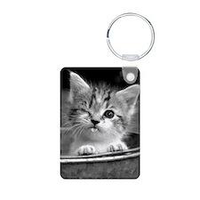 Cute Winking Kitten Keychains