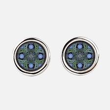 Celtic UFO Mandala Round Cufflinks