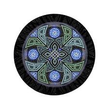 "Celtic UFO Mandala 3.5"" Button (100 pack)"