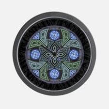 Celtic UFO Mandala Wall Clock