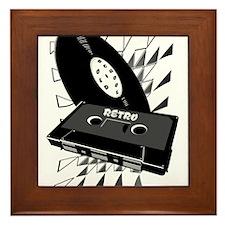 Cute Cassette Framed Tile