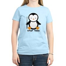 Personalized Flute Penguin Women's Light T-Shirt