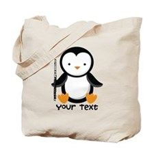 Personalized Flute Penguin Tote Bag