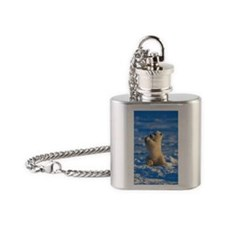 Cute Polar Cub Flask Necklace