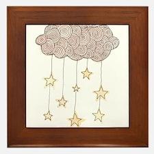 Swirling Stars Framed Tile