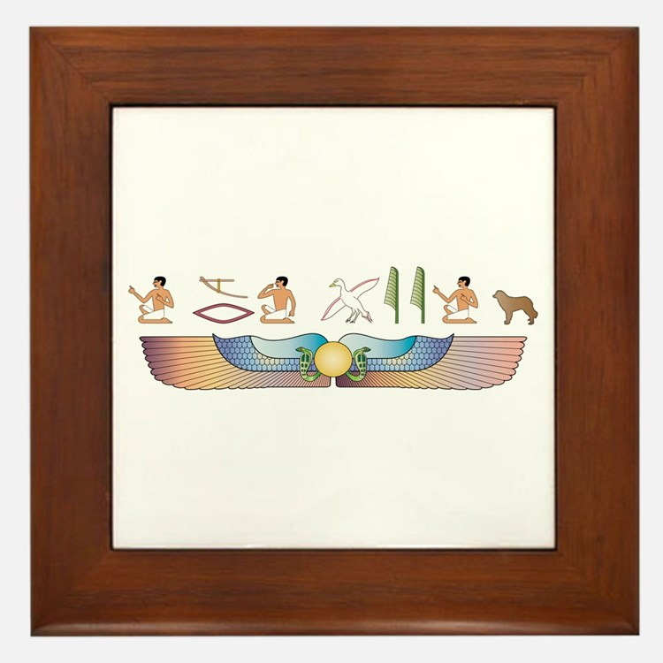 Estrela Hieroglyphs Framed Tile