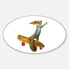 Skateboarding Squirrel Decal
