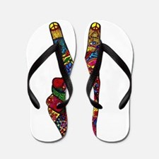 Make Peace Not War Flip Flops
