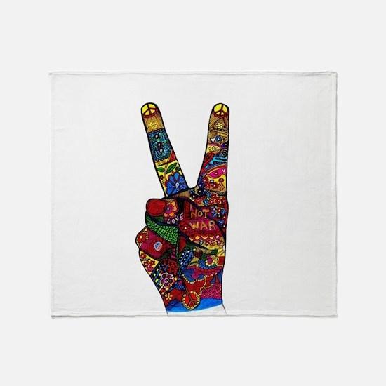 Make Peace Not War Throw Blanket