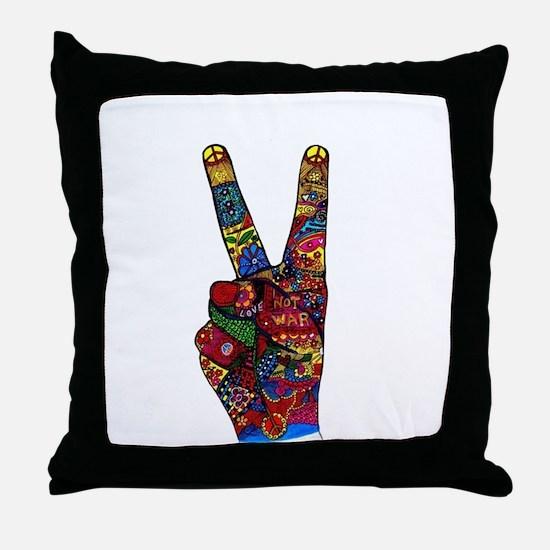 Make Peace Not War Throw Pillow