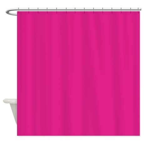 Solid hot pink shower curtain by showercurtainsworld for Plain pink shower curtain