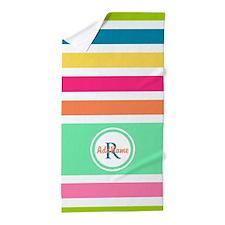 Multicolor Monogram Stripes Beach Towel